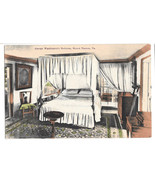 VA Mount Vernon George Washingtons Bedroom Vtg Foster & Reynolds Postcard - $6.64