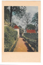 VA Mount Vernon Kitchen Garden View Vtg MVLA Postcard Alexandria Virginia - $6.36
