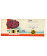 Vegetable Can Label Jory Loganberries Salem OR 1lb 5 oz Vintage - $4.74