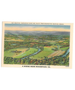 VA Woodstock Shenandoah River Valley from Massanutten Mountain Vtg Postcard - $6.64