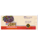 Vegetable Can Label Jory Blackberries Salem OR 1 lb 4 oz Vintage - $4.74