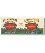 Vegetable Can Label Leiningers Pride Tomatoes Tipton IN 1 lb 3 oz Vintage - $3.50