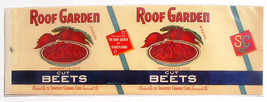 Vegetable Can Label Roof Garden Beets Somerset PA - $4.74