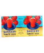 Vegetable Can Label Santa Fe Tomato Juice Arkansas City Kansas 13 3/4 X ... - $3.99