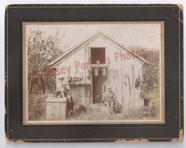 Vintage Photo Hunting Cabin Men Dogs Shotguns Traps Lanterns Coonhounds ... - $90.25