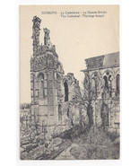 WWI France Soissons Cathedral The Large Breach c 1918 Postcard - $6.64