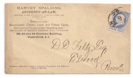 Washington DC Advertising Cover Attorney Harvey Spalding Act Notable Cor... - $14.20