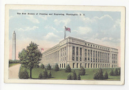 Washington DC Bureau of Printing and Engraving Vtg WB Garrison Postcard - $4.74