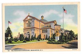 Washington DC Franciscan Monastery Vtg B S Reynolds Linen Postcard - $6.36