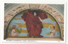 Washington DC Mural Library of Congress Melpomene Edward Simmons Vtg Pos... - $6.64