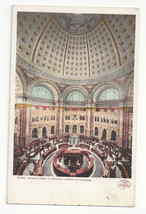 Washington DC Library of Congress Reading Room Rotunda Vtg UDB Postcard ... - $4.74