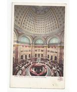 Washington DC Library of Congress Reading Room Rotunda Vtg UDB Postcard ... - $4.74