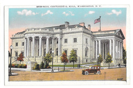 Washington DC Memorial Continental Hall Vtg B S Reynolds Postcard - $6.64