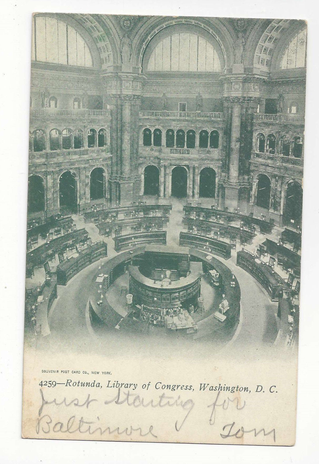 Primary image for Washington DC Rotunda Library of Congress Vtg UDB Postcard 1906