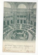 Washington DC Rotunda Library of Congress Vtg UDB Postcard 1906 - $6.36