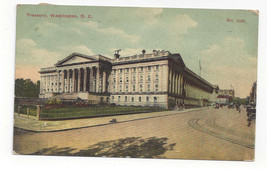 Washington DC Treasury Building Vtg A C Bossellman Postcard 1912 - $4.74