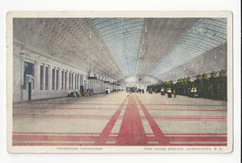 Washington DC New Union Station RR Passenger Concourse Vtg Postcard 1915 - $6.64