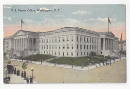 Washington DC US Patent Office Vtg WB Garrison Postcard ca 1910 - $6.36