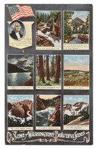 Washington State Patriotic Poem Vintage Scenic Multiview Postcard - $4.74
