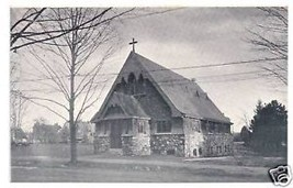 Wellesley MA Postcard Episcopal Chapel UND Vintage Church - $9.45