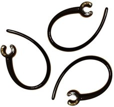 3 New Black Ear Hooks for Motorola HK210 HK201 HK202 HK100 HK200 H12 H15... - $2.25
