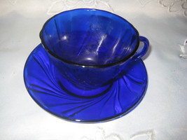 4 sets of Cobalt Blue Cups & Saucers - $18.00
