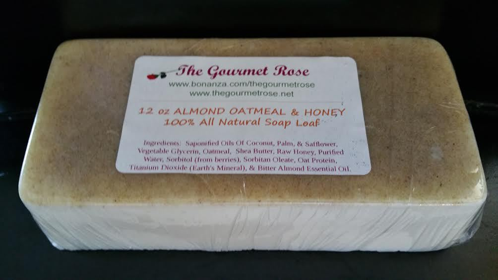 Primary image for 12oz ALMOND OATMEAL HONEY SOAP LOAF Handmade 100% All Natural Shea Oat Wholesale