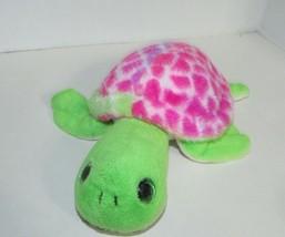 The Petting ZOO Turtle pink green plush tie dye shell - $12.86