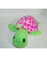 The Petting ZOO Turtle pink green plush tie dye shell - $11.57