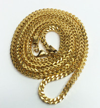 18K Gold Plated Stainless Steel  Franco Chain Necklace 30 Inches - $18.69
