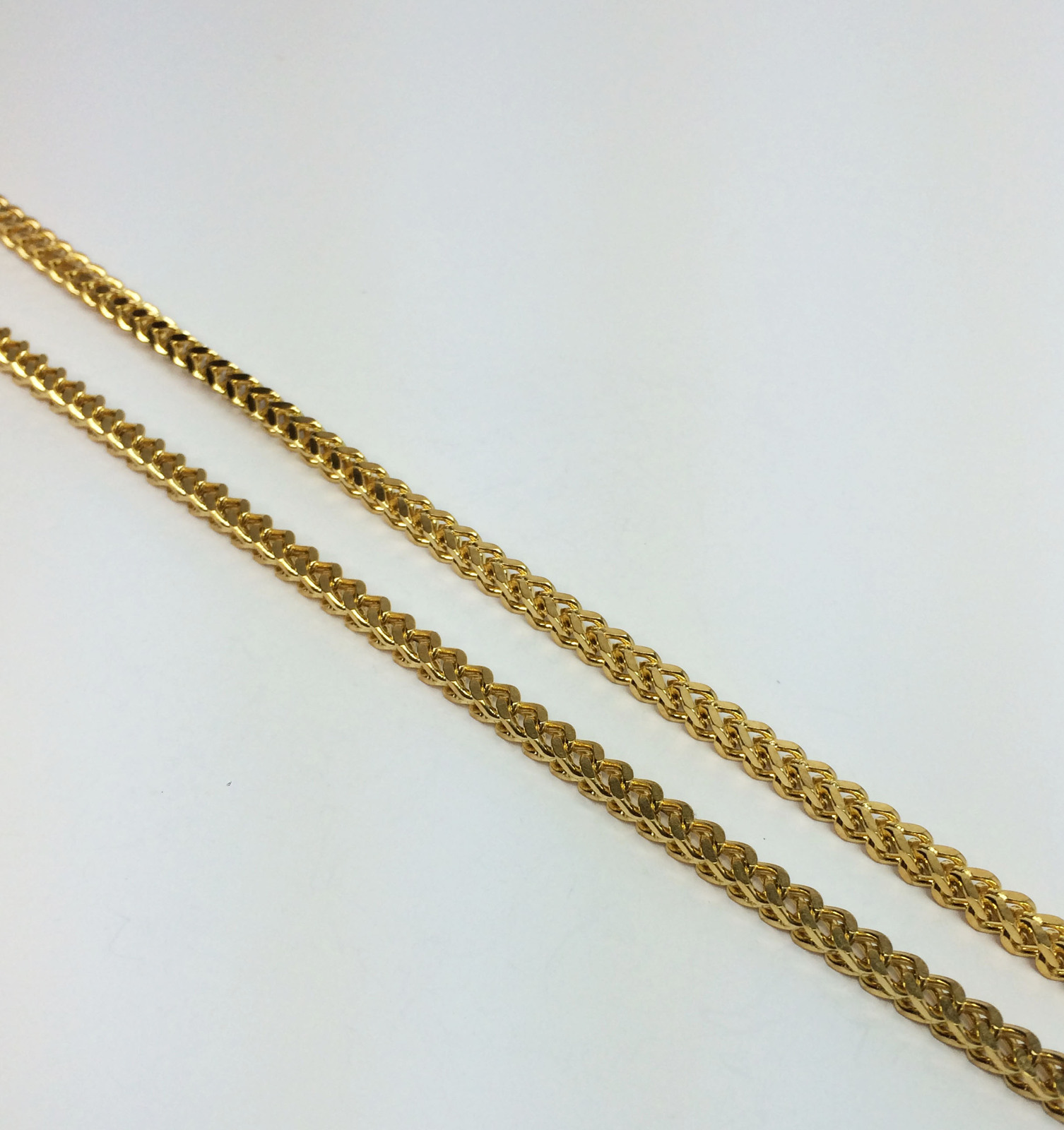 18K Gold Plated Stainless Steel  Franco Chain Necklace 30 Inches