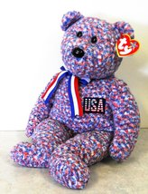 USA TY BUDDY SIZE BEAR Plush Toy Mint with Tag 14 Inches Tall  - $8.95