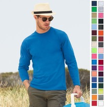 Fruit of the Loom Heavy Cotton Long Sleeve T-Shirt 4930 4930R S-3XL-37 COLORS! - $10.62+
