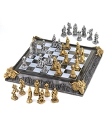 Chess set of Knights and dragons play on a medi... - $59.79