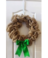Burlap with green bow thumbtall
