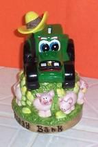 John Deere Tractor & Plenty of Piggys Collector Ceramic Bank - $9.99
