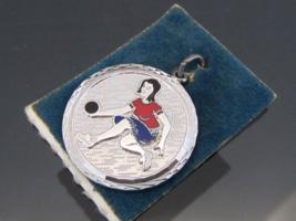 Vintage Sterling Silver Enamel Charm Pendant - $18.00