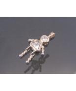Vintage Sterling Silver White Topaz Charm Pendant  - $7.00
