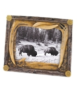 Photo frame  mimics deer antlers, with worn woo... - $10.39