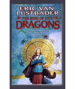THE RING OF FIVE DRAGONS by ERIC VAN LUSTBADER PAPERBACK BOOK 2002 FANTASY - $4.00