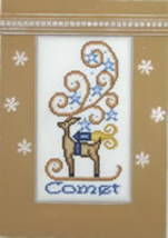 Comet Crystals cross stitch chart Hinzeit - $19.80