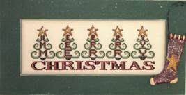 Tree Merry Christmas Crystals cross stitch chart Hinzeit - $14.40