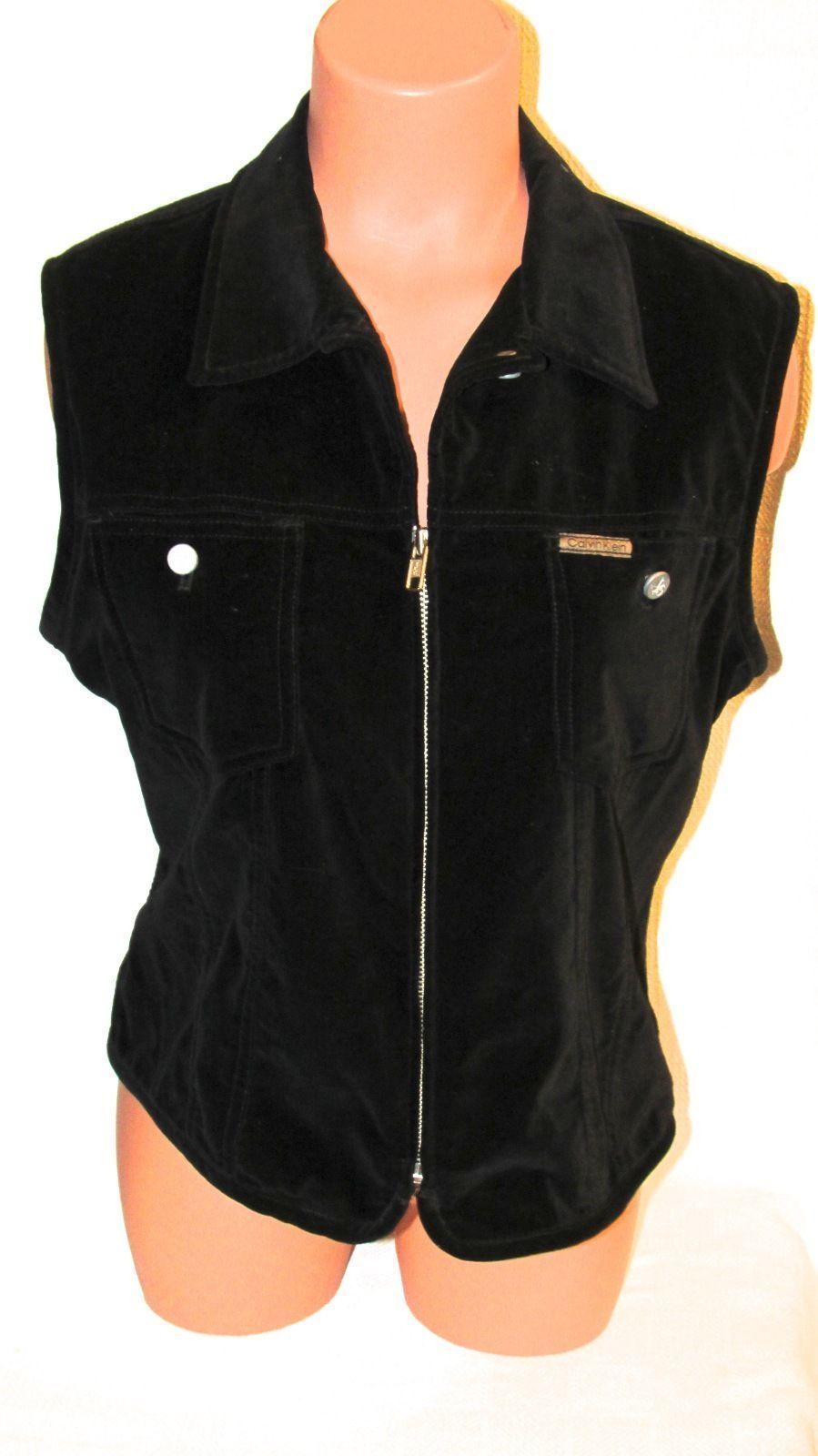 Calvin Klein Women's Cotton Solid Black Cotton Vest #NJ 57997 S: L