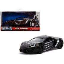Lykan Hypersport Black Panther Theme Marvel Series 1/32 Diecast Model Ca... - $16.74