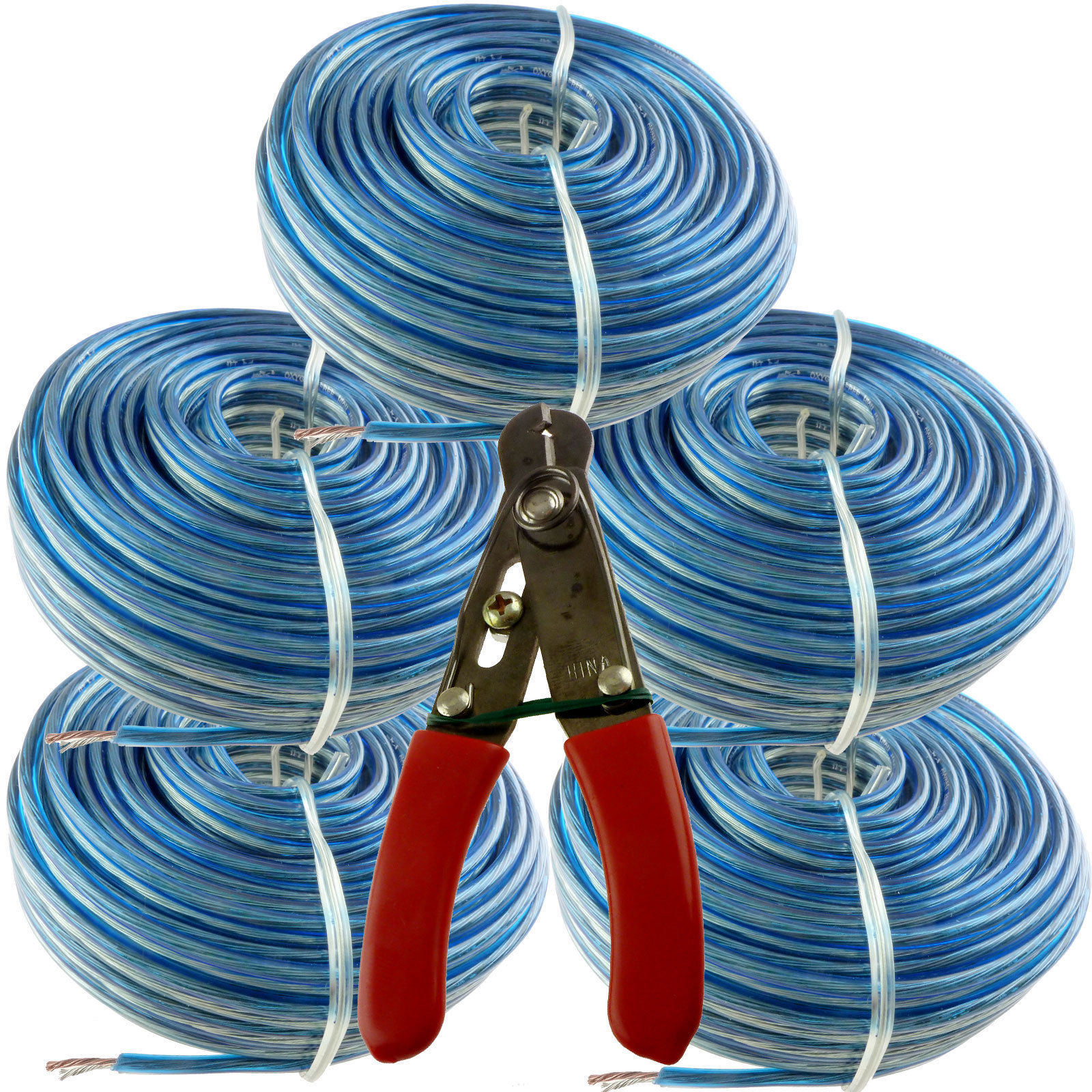 200 Feet 18 awg Blue Speaker Wire Cable ag and similar items