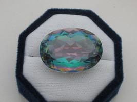 Rainbow mystic quartz oval  gem 63 carats - $31.99
