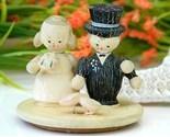 Vintage folk art painted wood bride groom cake topper lid thumb155 crop