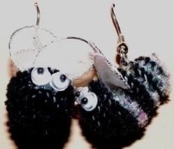 Funky BUMBLE BEE EARRINGS-Cute Killer Bees Garden Honey Charm Costume Je... - $6.97