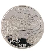 Alaska Mint 2018 Official State Medallion Silver Medallion Proof 1 Oz  - $98.88