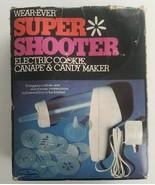 VTG Wear-Ever Super Shooter Electric Cookie Press Gun 70001 Complete w/ ... - $54.44
